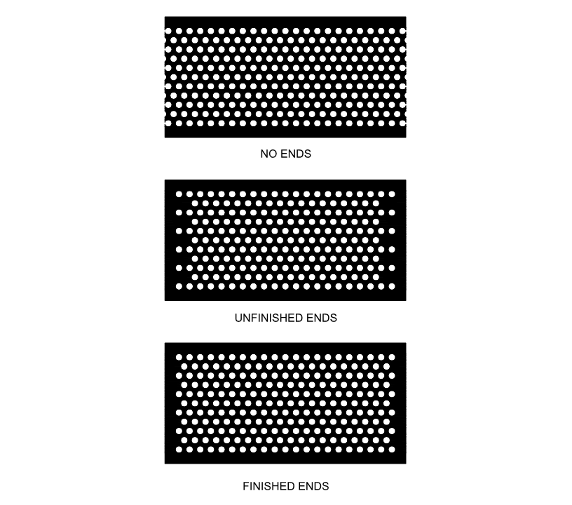 Perforated metal patterns